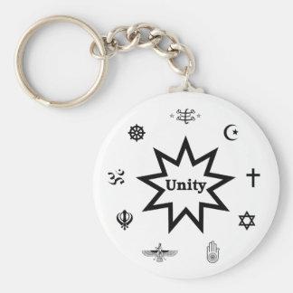 Religious Unity Basic Round Button Key Ring