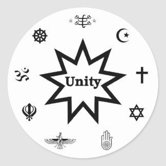 Religious Unity Decal Classic Round Sticker