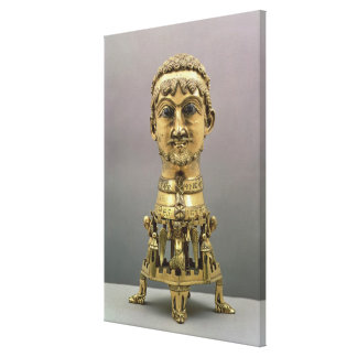Reliquary bust of Frederick I Gallery Wrap Canvas