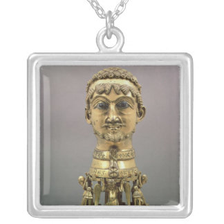 Reliquary bust of Frederick I Square Pendant Necklace