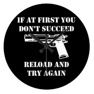 Reload Gun Large Clock