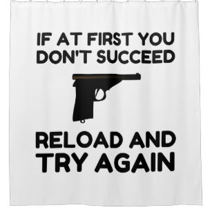 Reload Gun Shower Curtain