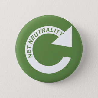 Reload Net Neutrality - White 6 Cm Round Badge