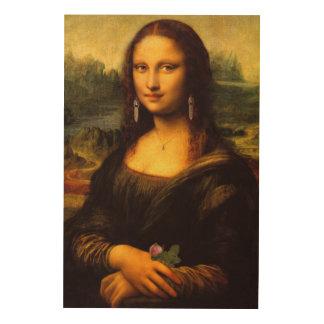 Relookée Mona Lisa Wood Print