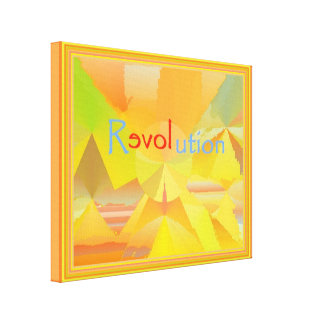 reLOVEution Abstract Art with border Canvas Print