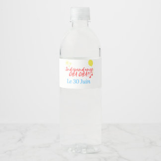 RelovingCongo Water Bottle Water Bottle Label