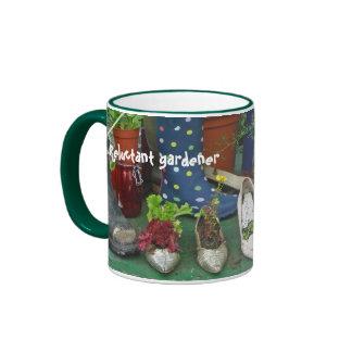 Reluctant gardener mug