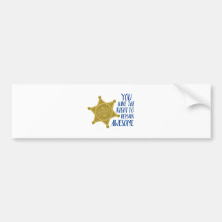 Remain Awesome Bumper Sticker