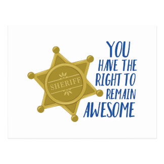 Remain Awesome Postcard