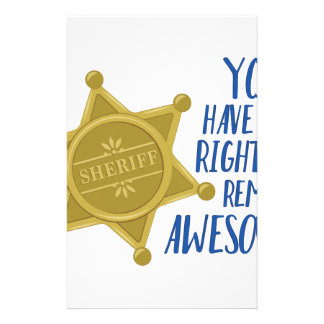 Remain Awesome Stationery