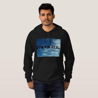 Remain Real black hoodie- Greg Atkins Hoodie
