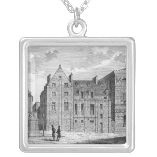 Remains of the Montaigu College, c.1850 Silver Plated Necklace