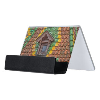 Remarkable roofing in the center of Obernai Desk Business Card Holder