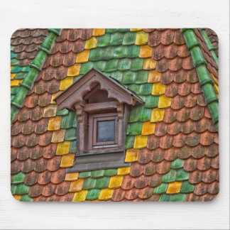 Remarkable roofing in the center of Obernai Mouse Pad