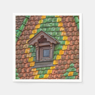 Remarkable roofing in the center of Obernai Paper Napkin
