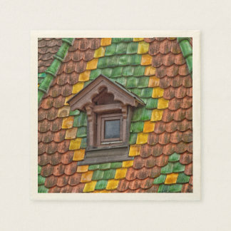 Remarkable roofing in the center of Obernai Paper Serviettes