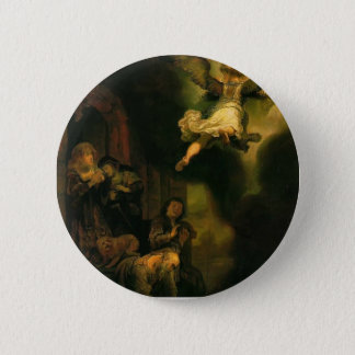 Rembrandt- Archangel Raphael Taking Leave 6 Cm Round Badge
