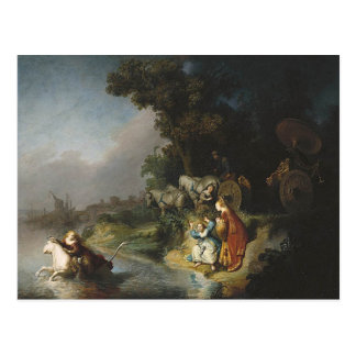 Rembrandt Art Painting Rape of Europe Postcard