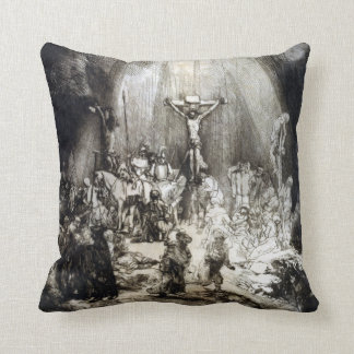 Rembrandt Christ Crucified between the Two Thieves Cushion