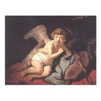 Rembrandt: Cupid Blowing Soap Bubbles Postcard