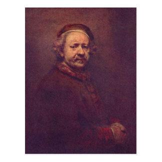 Rembrandt Harmensz. van Rijn Selbstportr?t 2. Drit Postcard
