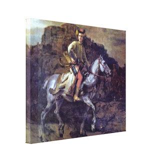 Rembrandt Harmenszoon van Rijn - The Polish Rider Gallery Wrap Canvas