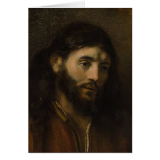 Rembrandt Head of Christ CC0924 Jesus portraits Card