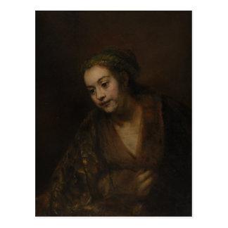 Rembrandt Hendrickje Stoffels Postcard