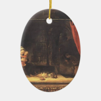 Rembrandt- Holy Family with a Curtain Ornaments