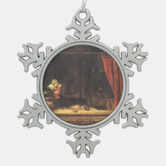 Rembrandt- Holy Family with a Curtain Ornament