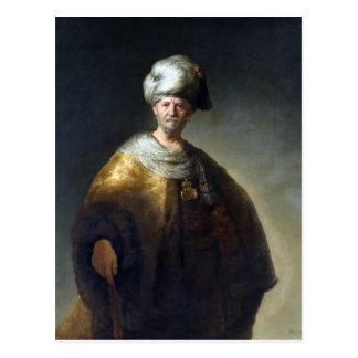Rembrandt Man in Oriental Costume Postcard