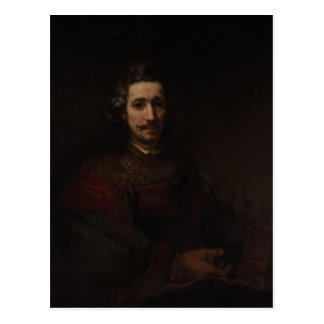 Rembrandt Man with a Magnifying Glass Postcard