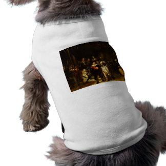 Rembrandt Nightwatch Night Watch Baroque Painting Sleeveless Dog Shirt