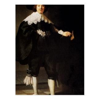 Rembrandt: Portrait Of Maerten Soolmans Postcard