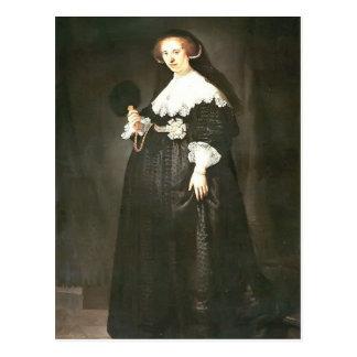 Rembrandt: Portrait of Oopjen Coppit Postcard