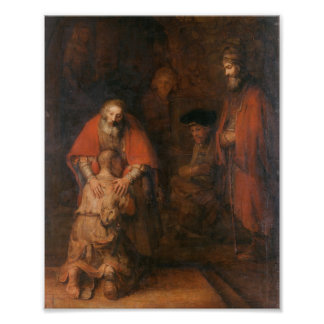 Rembrandt  - Return of the Prodigal Son Poster