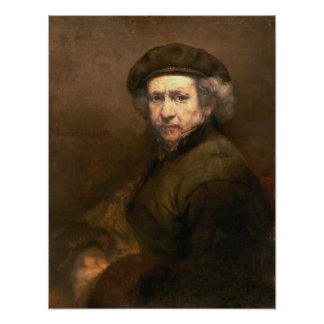 Rembrandt: Self Portrait Beret & Turned-Up Collar Poster