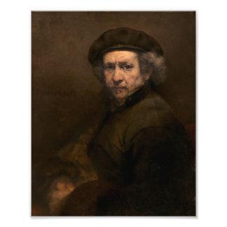 Rembrandt Self Portrait Vintage Fine Art Painting Photograph