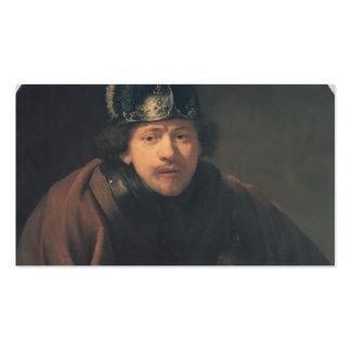 Rembrandt- Self-portrait with Helmet Pack Of Standard Business Cards
