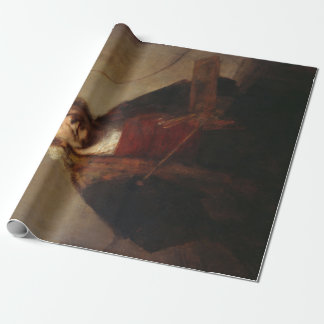 Rembrandt Self-Portrait with Two Circles Wrapping Paper