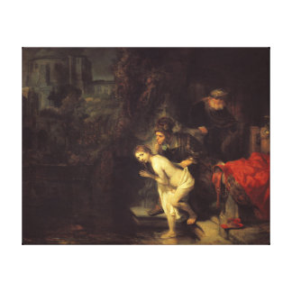 Rembrandt Susanna and the Elders Canvas Print