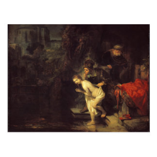 Rembrandt Susanna and the Elders Postcard