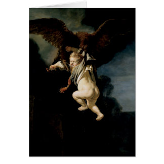 Rembrandt - The Abduction of Ganymede - Fine Art Card