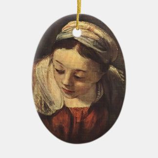 Rembrandt- The Holy Family(fragment) Christmas Ornament