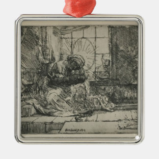 Rembrandt: The Holy Family with a cat Ornaments