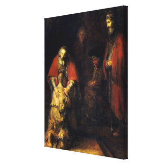 Rembrandt - The Return of the Prodigal Son Canvas Print