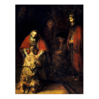 Rembrandt - The Return of the Prodigal Son Postcard