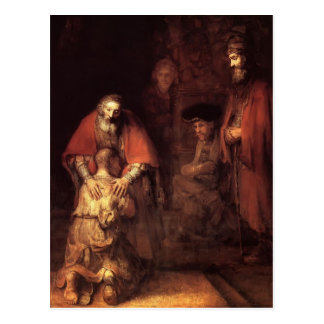 Rembrandt: The Return of the Prodigal Son Postcard