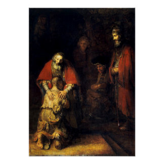 Rembrandt - The Return of the Prodigal Son Poster