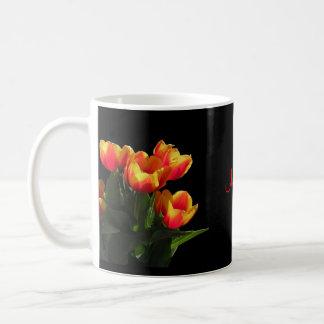 Rembrandt Tulip Monogram Mug